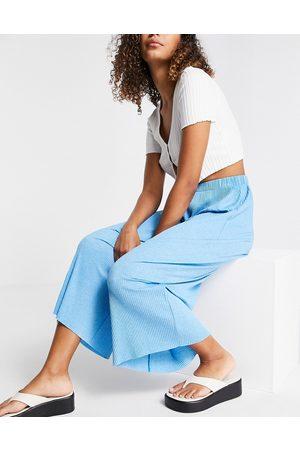 ASOS Pantalon style jupe-culotte plissé - chiné