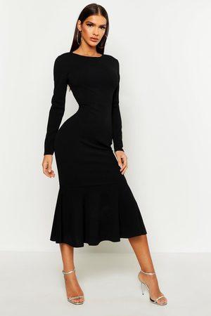 Boohoo Femme Robes longues - Robe Midaxi Manches Longues Queue De Poisson