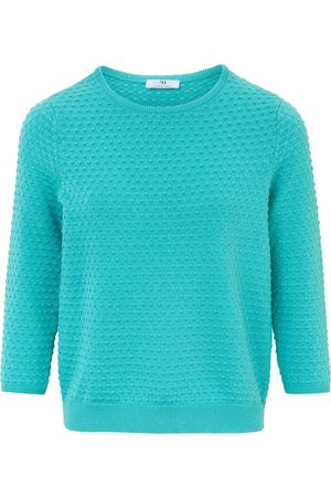 Peter Hahn Le pull 100% coton turquoise