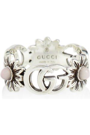 Gucci Bague GG Marmont en sterling avec perles