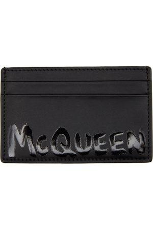 Alexander McQueen Homme Pochettes & Étuis - Porte-cartes Graffiti noir