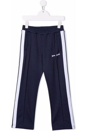 Palm Angels Homme Pantalons classiques - CLASSIC LOGO TRACK PANT NAVY BLUE WHITE