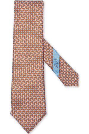 Ermenegildo Zegna Homme Cravates - Cravate en soie à imprimé végétal