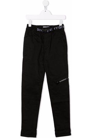 Givenchy Pantalon à taille à logo