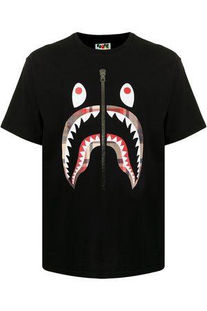 A Bathing Ape Homme Débardeurs - T-shirt à imprimé requin