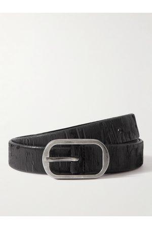 Saint Laurent Homme Ceintures - 2.3cm Textured-Leather Belt