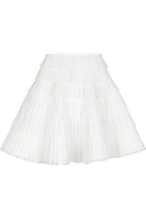 Alaïa Mini-jupe en dentelle plissée