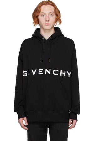 Givenchy Pull à capuche noir à logo brodé