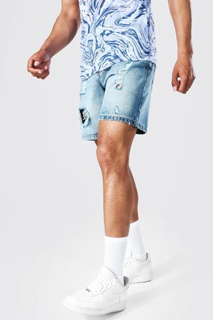 Boohoo Homme Shorts - Relaxed Fit Extreme Ripped Denim Short Homme