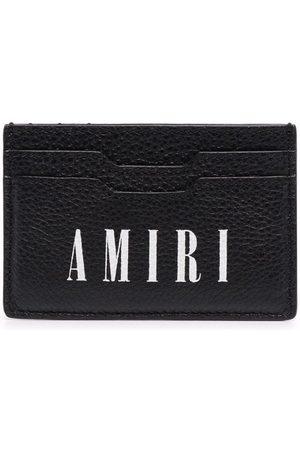 AMIRI Porte-cartes en cuir à logo imprimé