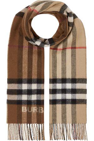 Burberry écharpe bicolore en cachemire à carreaux