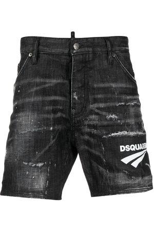Dsquared2 Short en jean à logo imprimé