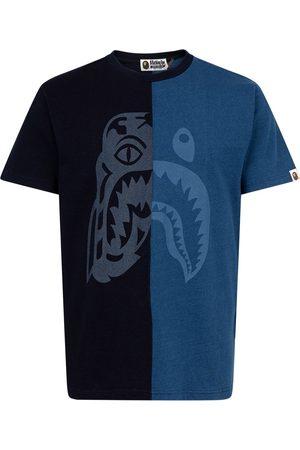 A Bathing Ape T-shirt Indigo Half Tiger Shark