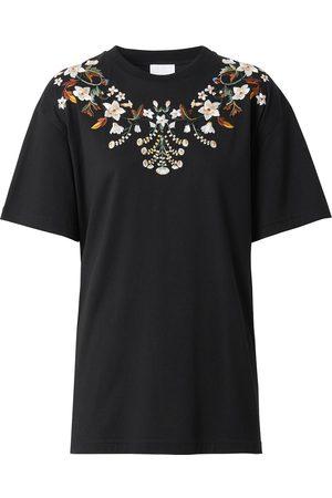 Burberry Femme T-shirts - T-shirt à fleurs brodées