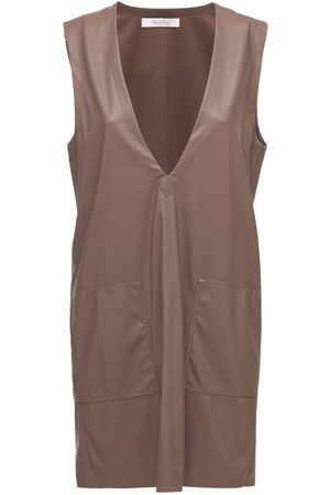 Max Mara Femme Robes - Mini-robe À Col En V En Simili Cuir