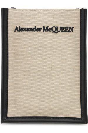 Alexander McQueen Sac Bandoulière Mini En Toile À Logo