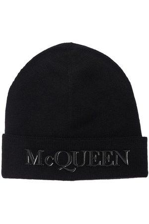 Alexander McQueen Bonnet En Cachemire Et Laine À Logo