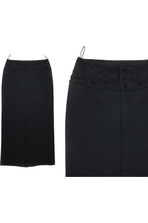 Etsy - dArcFrance Jean-Paul Gaultier - Long Black Skirt Embroidered With Braids