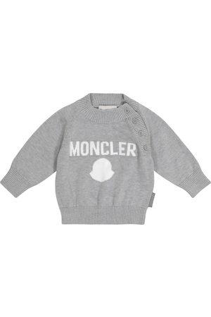 Moncler Pull en coton à logo pour bébé