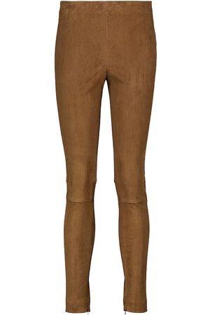 Polo Ralph Lauren Pantalon skinny en daim à taille haute