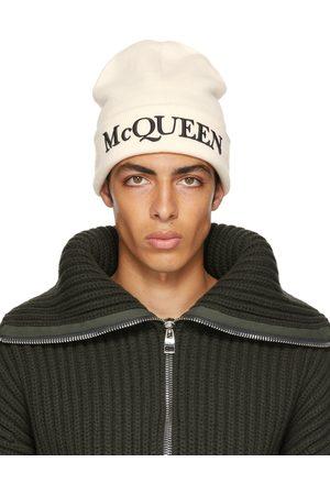 Alexander McQueen Bonnet blanc cassé à logo