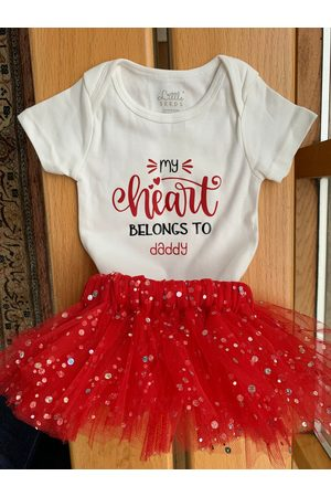 Etsy - BabybowsByGrace Valentines Day Outfit, Bodysuit, Baby Girl First Valentine, Red Tutu Toddler Day, Outfit