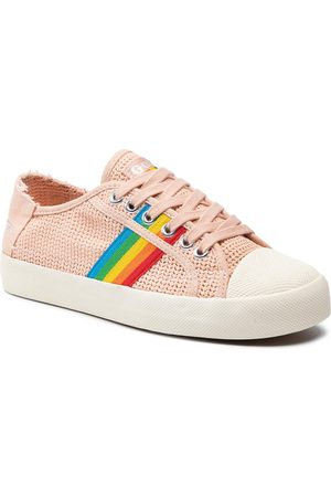 Gola Baskets - Coaster Weave CLB177 Pearl Pink/Multi