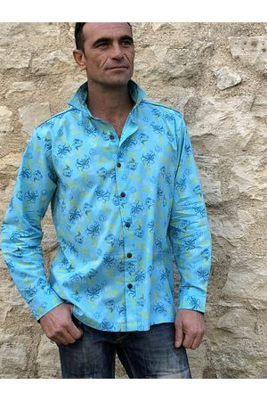 """Etsy - SpunkadelissClothink Homme Manches longues - Chemise Manches Longues """"Lost in The Sea """""""