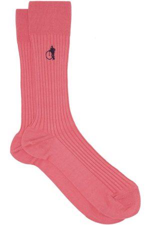 London Sock Company Chaussettes en coton mélangé côtelé Pink Friday