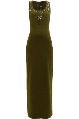 Givenchy Femme Robes longues - Robe longue en jersey cloutée à encolure échancrée