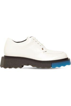 OFF-WHITE Chaussures À Lacets En Cuir Brossé 40 Mm