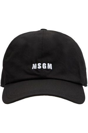 Msgm Casquette En Toile De Coton À Logo Brodé