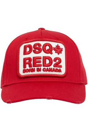 Dsquared2 Logo Patch Cotton Gabardine Cap