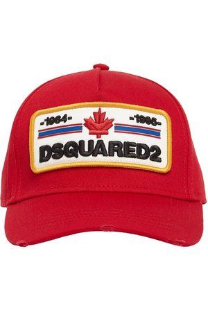 Dsquared2 Homme Casquettes - Casquette En Gabardine De Coton À Patch Logo