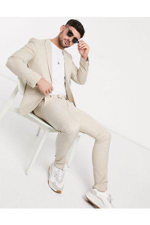 Topman Pantalon de costume super skinny - Taupe-Neutre