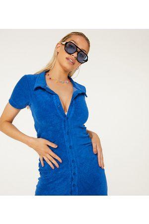 New Girl Order Exclusivité - Robe de plage courte froncée en tissu éponge