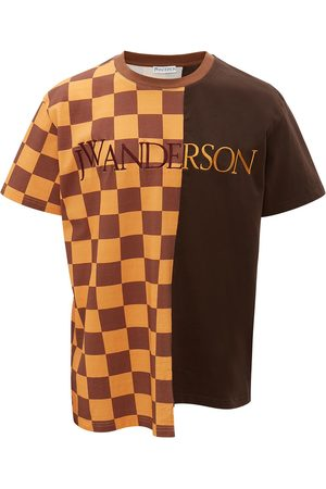 JW Anderson CHECKERBOARD PATCHWORK T-SHIRT