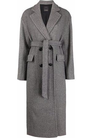 Pinko Manteau ceinturé à boutonnière croisée