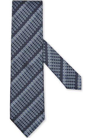 Ermenegildo Zegna Cravate en soie à rayures diagonales