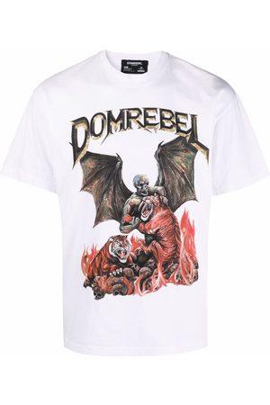 DOMREBEL T-shirt à logo imprimé