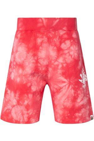 A Bathing Ape Short de sport à motif tie-dye