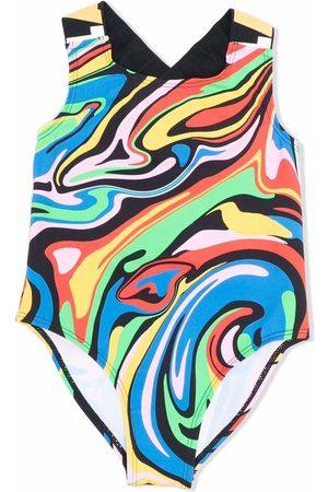 Stella McCartney Maillot de bain à imprimé abstrait