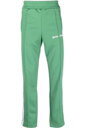 Palm Angels CLASSIC TRACK PANTS GREEN WHITE