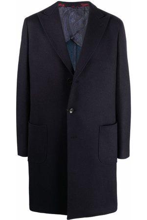 Etro Manteau en cachemire mélangé à simple boutonnage
