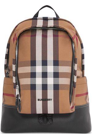 Burberry Homme Sacs à dos - Grand sac à dos en toile à carreaux