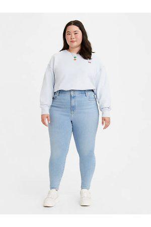 Levi's Jean Super Skinny taille mi haute (Plus) Indigo moyen / Naples Shine