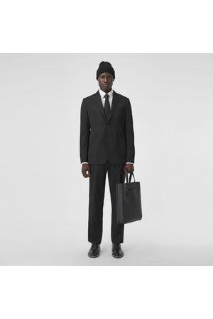 Burberry Homme Pantalons classiques - Pantalon de costume 7/8 en laine technique, Size: 44