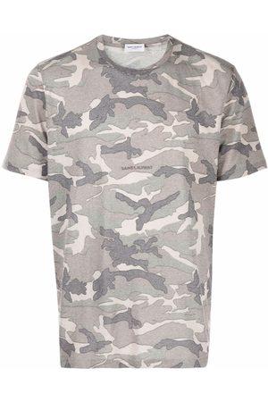 Saint Laurent Camouflage-print T-shirt