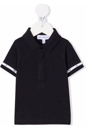Emporio Armani Logo-tape cotton polo shirt