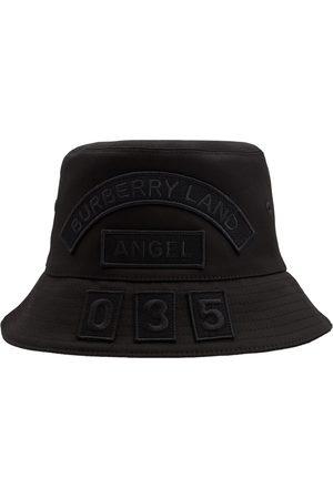 BURBERRY Cotton Canvas Multi Badge Bucket Hat